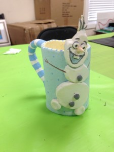 "Make an ""Olaf"" mug - fun for all ages!"